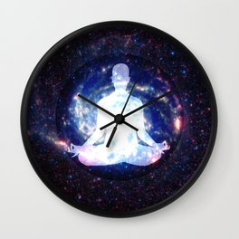 Meditation Light Body Wall Clock