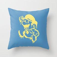 Mario au fromage Throw Pillow