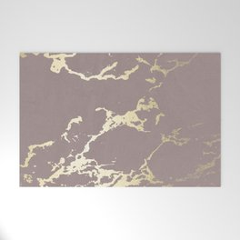 Kintsugi Ceramic Gold on Red Earth Welcome Mat