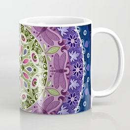 Colourful Dragonfly Mandala Coffee Mug