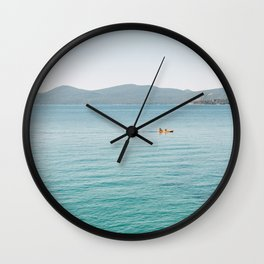 Summer Lake Day Wall Clock