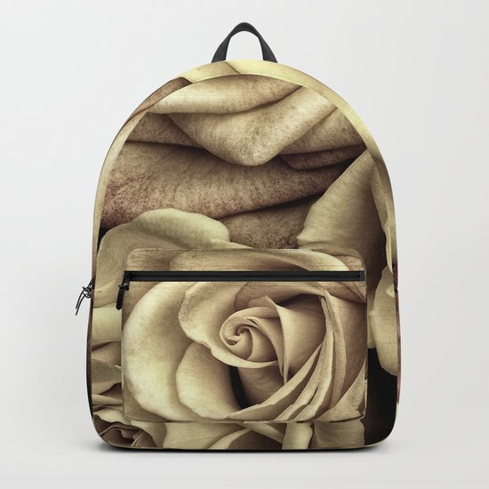 Brown Roses Backpack