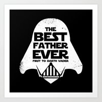 The Best father Ever B Art Print