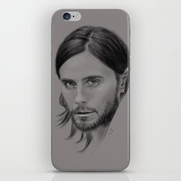 Jared Leto Digital Portrait grey LLFD iPhone Skin
