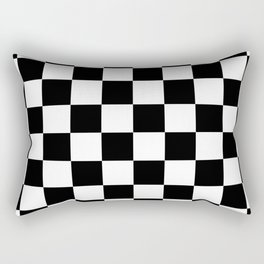 Black White Checker Rectangular Pillow