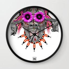 The GOD of Tulipas Wall Clock