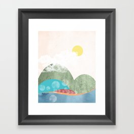 Quirky Mountains I Framed Art Print
