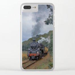 Steam Trains Clear iPhone Case