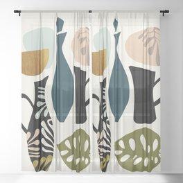Kitchen ware Sheer Curtain