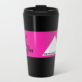 A simple 'hello' could lead to a million things Metal Travel Mug
