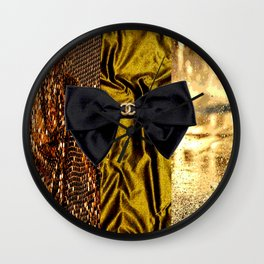 COCO GLAMOUR AND VINTAGE : BOW Wall Clock