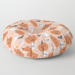 Pumpkin Party on Blush Pink Floor Pillow