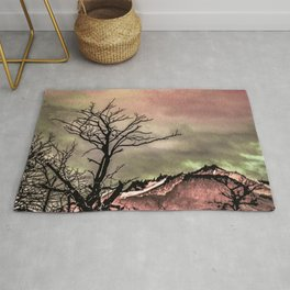 Fantasy Landscape Illustration Rug
