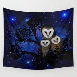 Owl Family Wall Tapestry