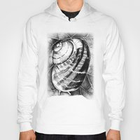 snail Hoodies featuring Snail by MARIA BOZINA - PRINT