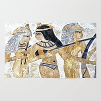 egyptian Area & Throw Rugs featuring Egyptian Musicians by Brian Raggatt