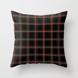 ARREST - distressed bars Throw Pillow