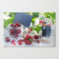 Fresh fruits summer Canvas Print