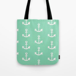 Anchors - mint green Tote Bag