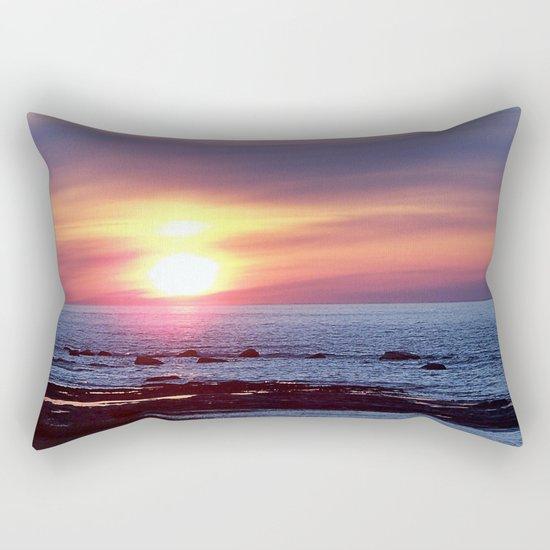 Double Sun Sunset Rectangular Pillow