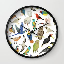 Endangered Birds Around the World Wall Clock