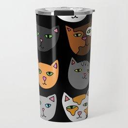 Kitty Cats Everywhere Travel Mug