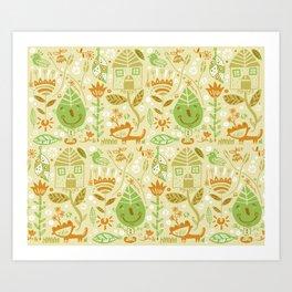 Nature-pattern Art Print