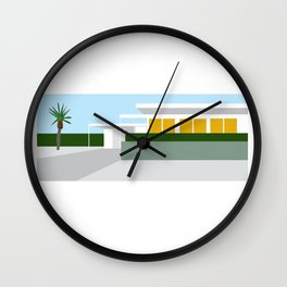 mid-century modern house one Wall Clock