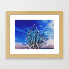 Barren Tree Abstract Framed Art Print