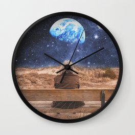 PLANET EARTH, THE UNIVERSE AND I Wall Clock