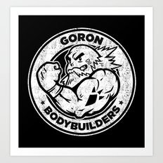 Goron Bodybuilders Art Print