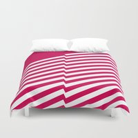 bands Duvet Covers featuring Red Bands R. by blacknote