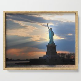 Statuate of our Liberty Serving Tray