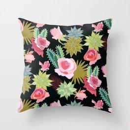 California Rose Garden Throw Pillow