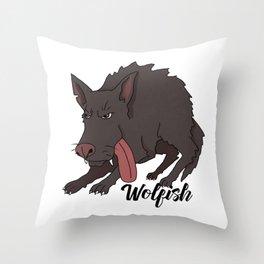 Wolfish Throw Pillow