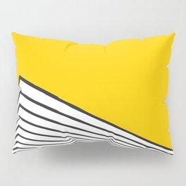 Minimal geometric yellow black modern Pillow Sham