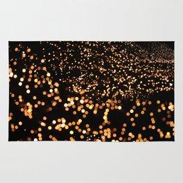 City Tree Lights, Bokeh Exposure, George's Dock, Dublin, Ireland Rug