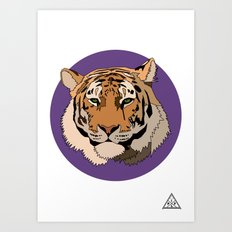 Wild Rectangular Tiger Art Print