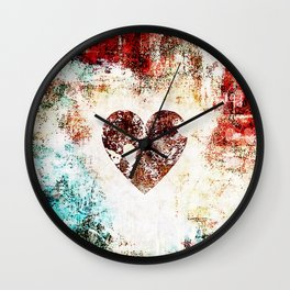 Vintage Heart Abstract Design Wall Clock