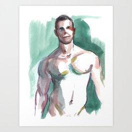 BRANDON, Semi-Nude Male by Frank-Joseph Art Print