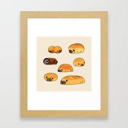 Bread Pugs Framed Art Print