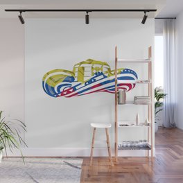 Colombian Sombrero Vueltiao in Colombian Flag Colors Wall Mural