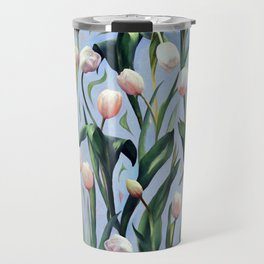 Waiting on the Blooming - a Tulip Pattern Travel Mug