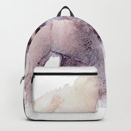 Watercolor Bison Painting Backpack