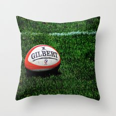 Rugby Time Throw Pillow