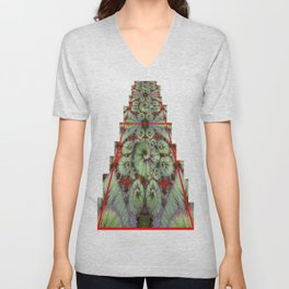 Escargot Begonias Abstract Unisex V-Neck