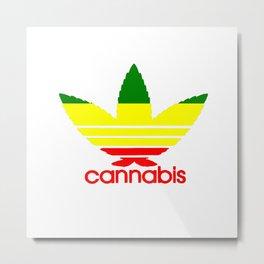 Cannabis Logo Metal Print