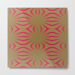 Pinkbrown(blue) Pattern 6 Metal Print