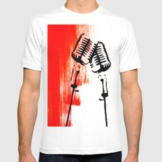 Lets Duet Mens Fitted Tee White MEDIUM