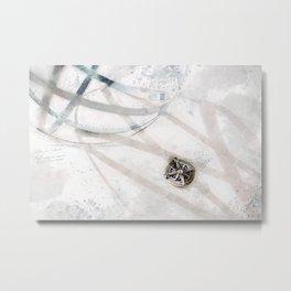 Compass & Sphere Metal Print